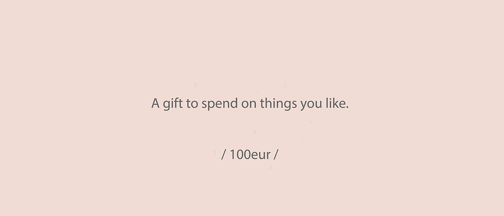 GIFT coupon/ 100eur
