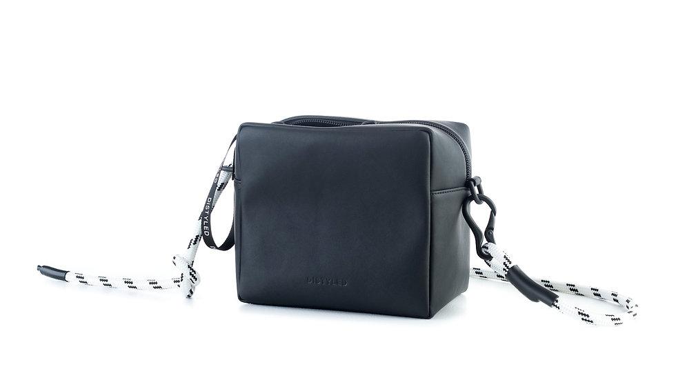 Box bag, big / rope white black Distyled
