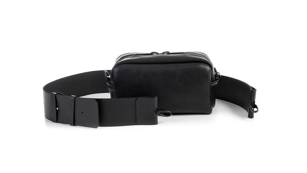 Leather camera bag, medium/ Flat strap 4