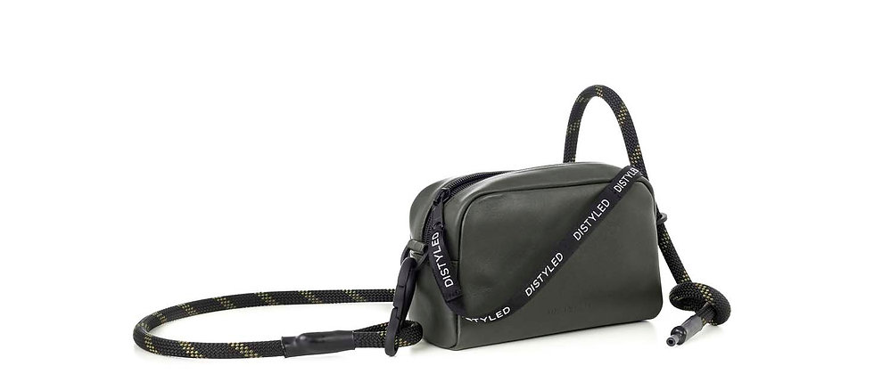 Leather camera bag, small /Climbing rope