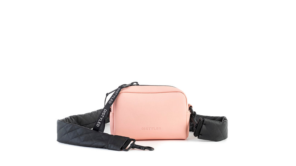 Camera bag, xsmall / quilted strap