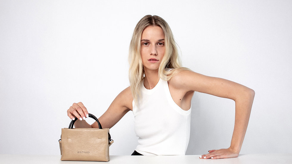 Mini shopping bag oak black Distyled