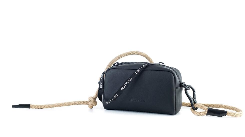 Camera bag, medium/ rope strap black Distyled