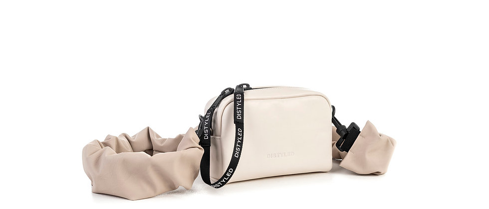 Leather camera bag, small / rugged strap