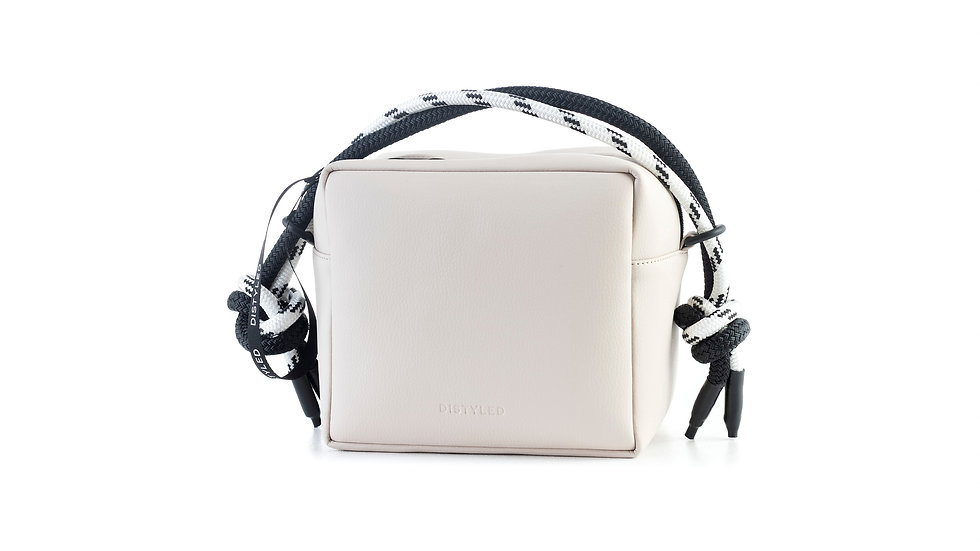 Box bag, big / short double rope beige Distyled