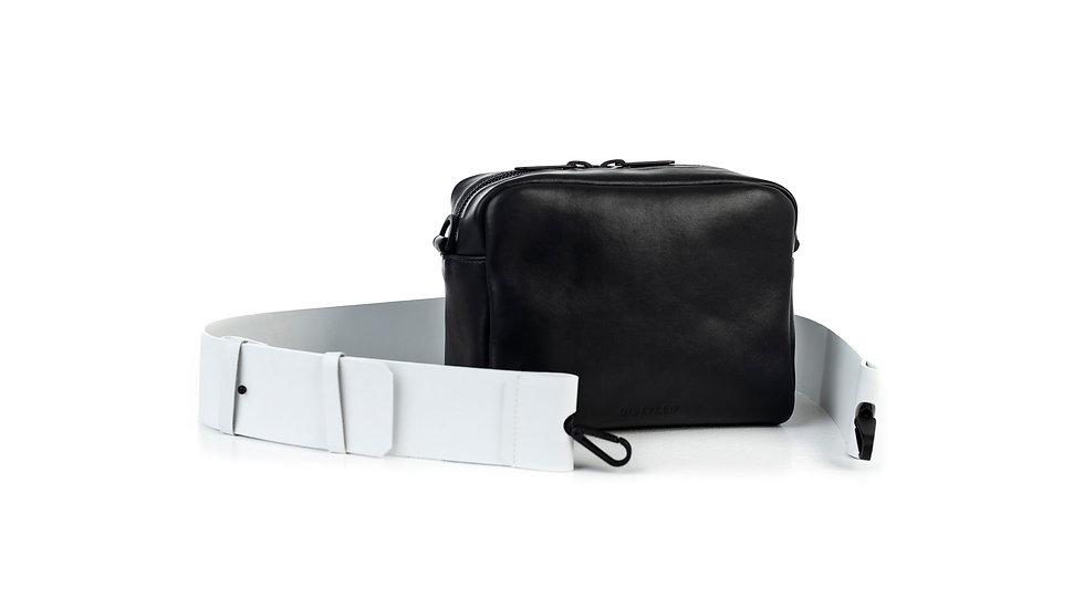 Leather camera bag, big/ Flat strap 6