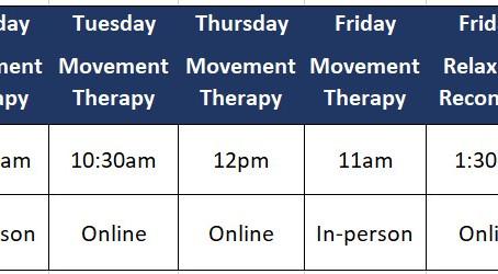 Schedule of Classes Sept 2021