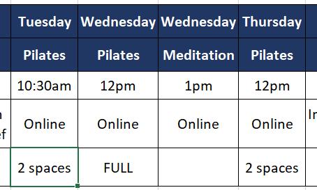 In-Person Classes Restarting in Colehill in June