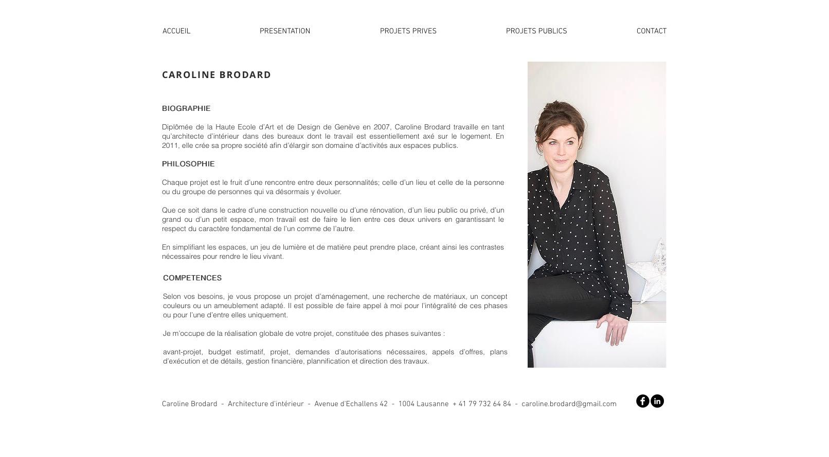 Site Caroline Brodard