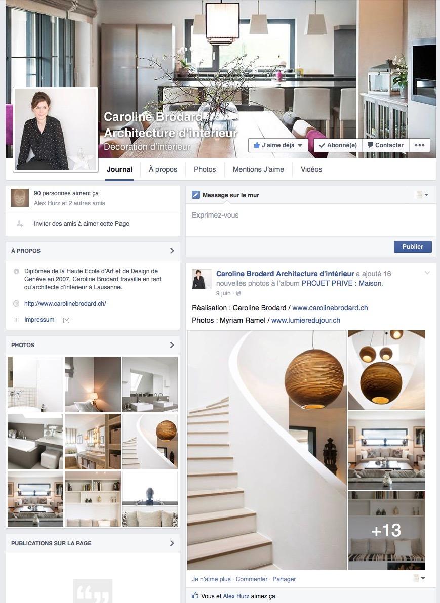 Page Facebook Caroline Brodard