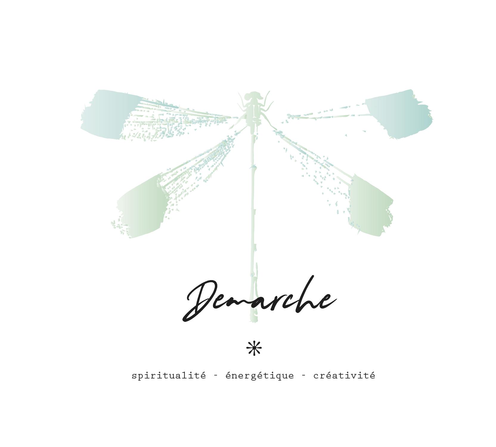 Proposition de logo 5 cabinet Démarche, Nathalie Perler, spiritualité, thérapies énergétiques