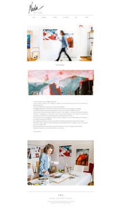 Site internet Nada Stauber, artiste, création du site Myriam Ramel, www.lumieredujour.ch