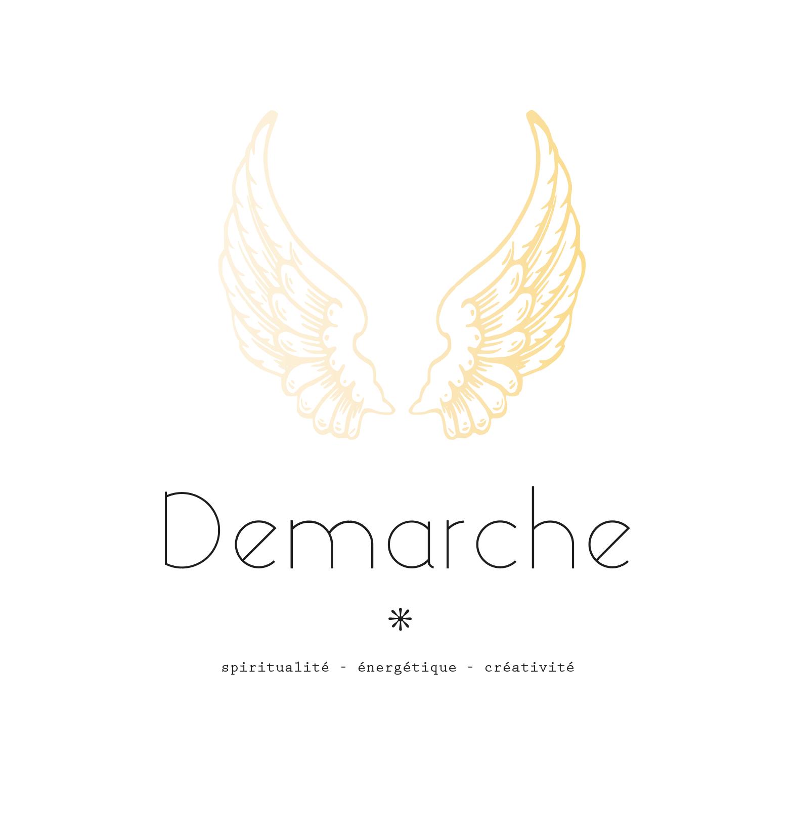 Proposition de logo 2 cabinet Démarche, Nathalie Perler, spiritualité, thérapies énergétiques