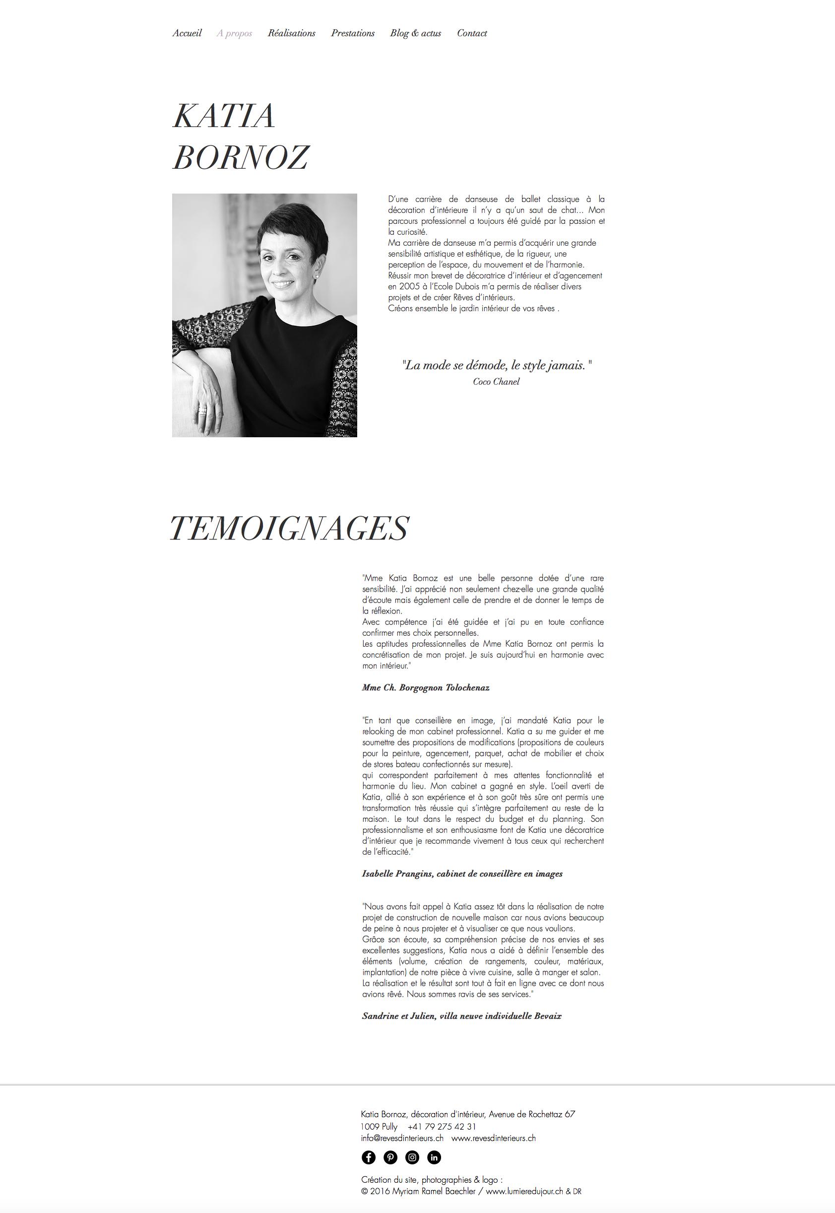 site internet Katia Bornoz