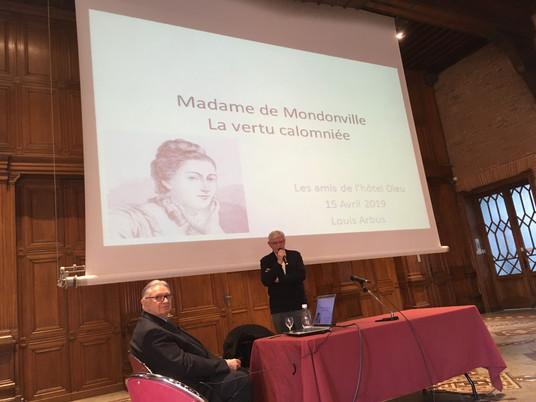 Conférence du Pr Louis Arbus : Madame de Mondonville ; la vertu calomniée