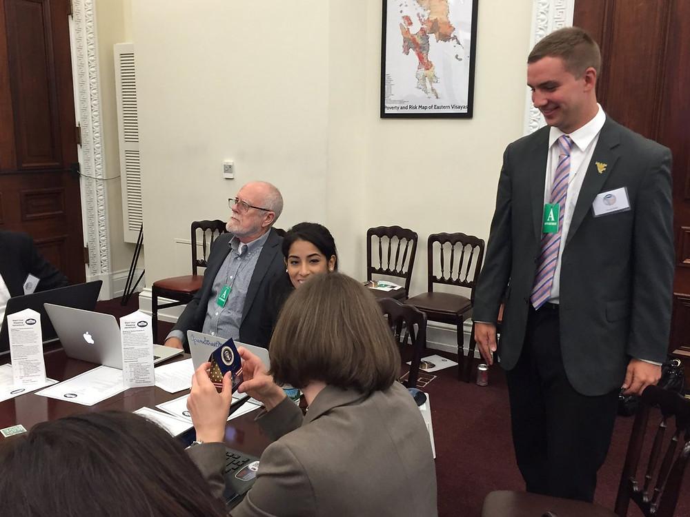 Garrett with White House Mapathon attendees.