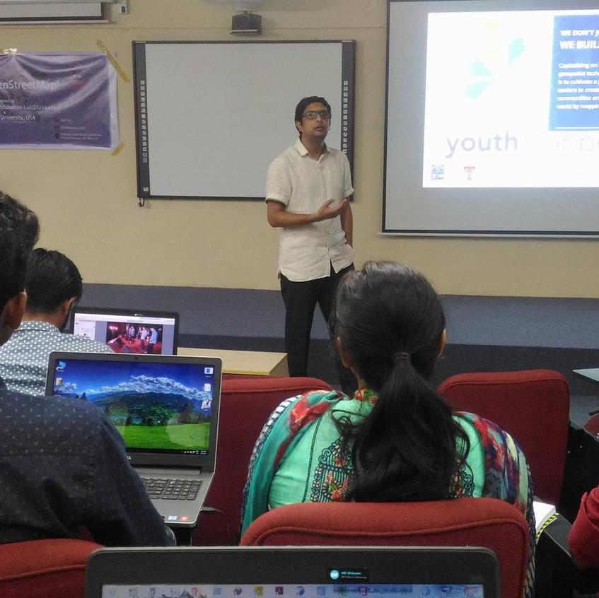 Prof Khalid giving his speech