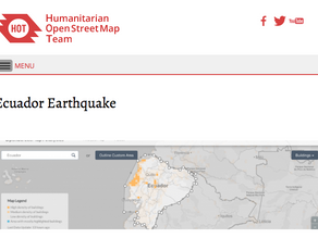 Earthquake response and recovery aided by HOT mapping