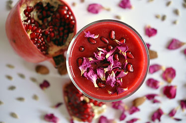 Rose syrup and pomegranate smoothie 1.jp
