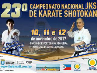 Campeonato Nacional JKS de Karatê vai ser disputado em Marechal Deodoro