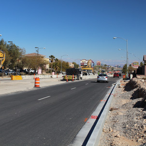 Tropicana and Hualapai Construction Staking