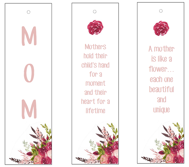 image relating to Mother's Day Bookmarks Printable Free identify 3 No cost PRINTABLE BOOKMARKS FOR Moms Working day