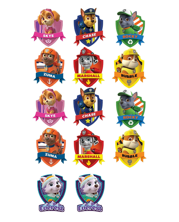 photograph about Free Printable Paw Patrol Badges named Cost-free PRINTABLE PAW PATROL BADGES Tailor made Reward WRAP