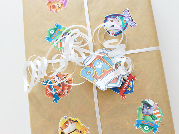 picture regarding Paw Patrol Printable Decorations identified as Free of charge PRINTABLE PAW PATROL BADGES Personalized Reward WRAP