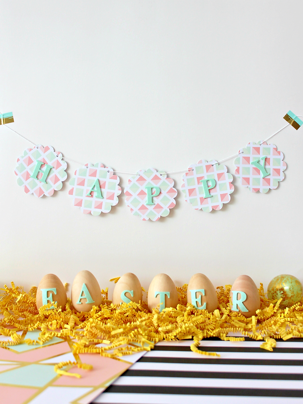 Easter decor and banner