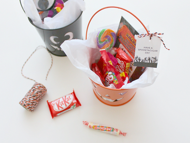 Have a spooktacular day tag printable halloween treat buckets in todays post im also offering the fun gift tag that i made as a free printable you may download yours below if you wish negle Image collections