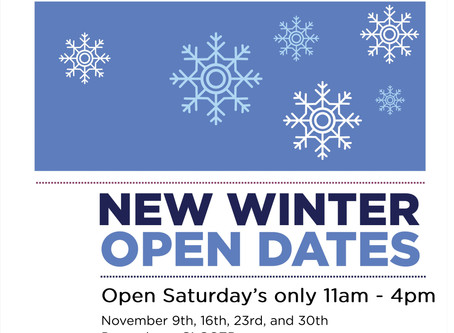 Winter opening for Museum