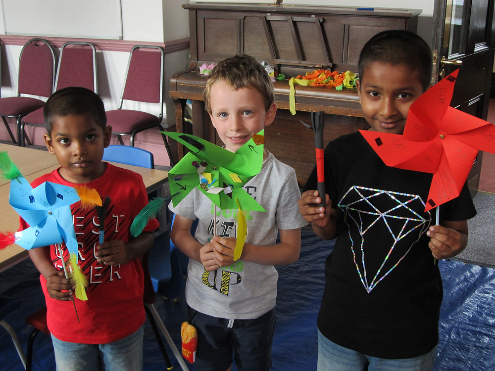 Making Flags and Pinwheels at John Bunyan Museum's Crafty Thursdays