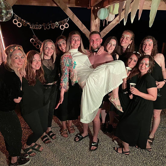 Butler in the buff at a hen party event planned by Naked Musicians
