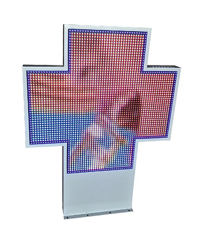 Cruz de leds farmacia galiplus modelo co