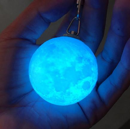 3D Printed Mini Moon Lamp 4cm LED Night Lamp keychain