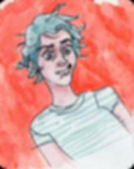 watercolor self portrait of Cesya Palmer