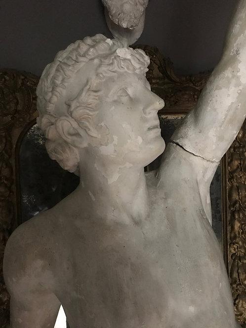 19th Century Statue of Apollo in Stucco