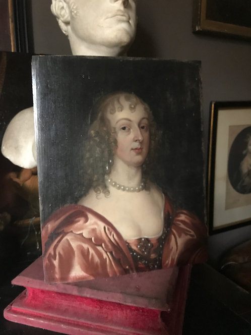 A 17th century portrait of The Countess of Carnarvon att to Theodore Russell