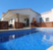Villa Blanca with private swimming pool.