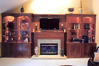 Pickerington Custom built-in bookcases around fireplace
