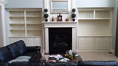 Westerville custom built-in fireplace surround