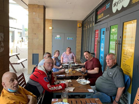 A social event for our End COVID isolation project .  Funded via the Lottery Community Fund.