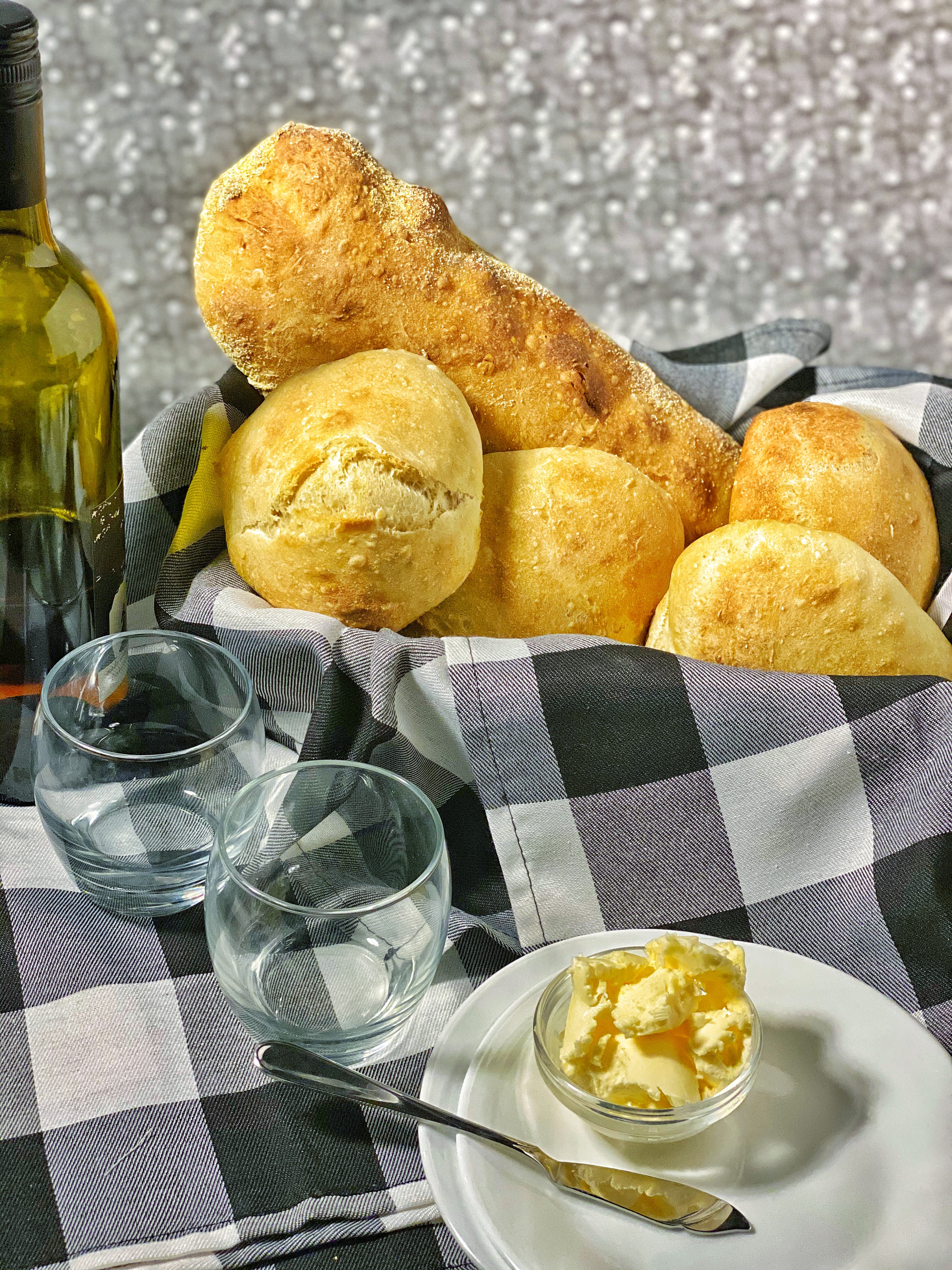 White Bread with Wine