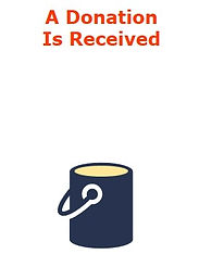 Graphic of a single bucket representing a donation.