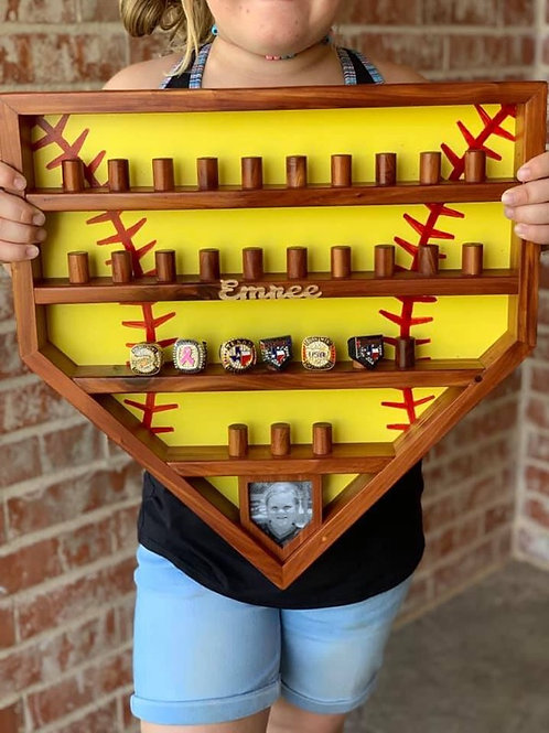 Baseball/Softball Ring Display