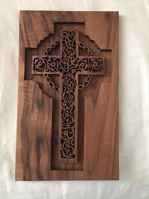 Inlaid Crown Cross