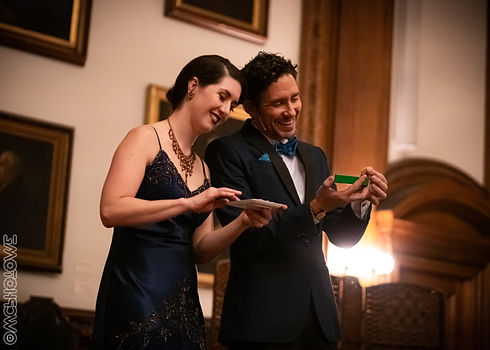 Lindsey Noel and Francis Menotti, Couple of Magicians, blowing minds and warming hearts at the Mutter Museum. Photo by WCPhoto