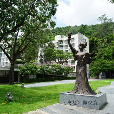 一路上,盡是樹與樹在相遇的過程。一直走到火車站,只見民主女神像旁的小樹形單隻影。我想,它也在努力。努力成長,或會碰上另一旁的它。
