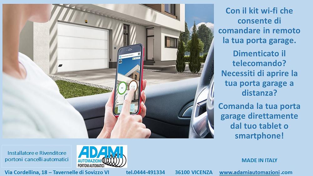 Comanda la tua porta garage direttamente dal tuo tablet o smartphone!
