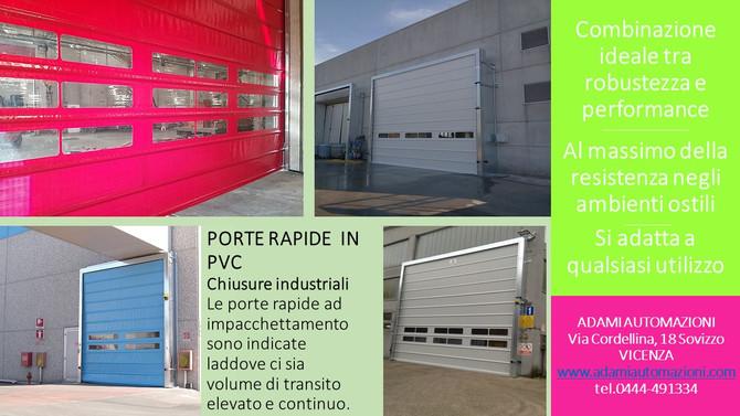 Porte rapide per la gestione di ambienti lavorativi con volume di transito elevato e continuo